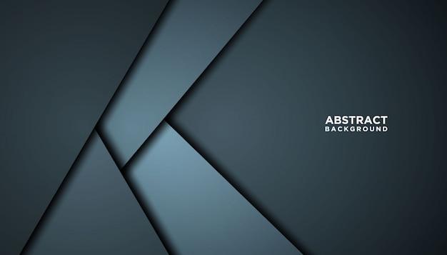 Темный абстрактный фон с перекрытием слоев. Premium векторы