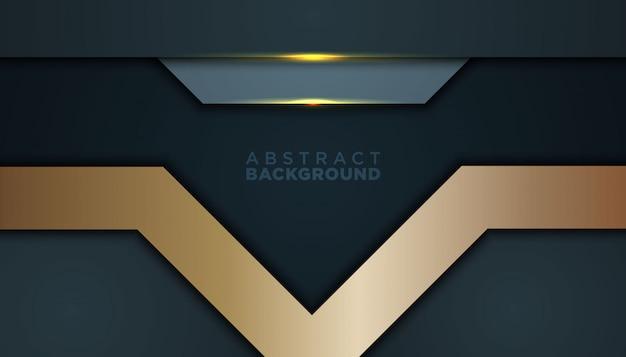 Темный абстрактный фон с черными слоями перекрытия Premium векторы