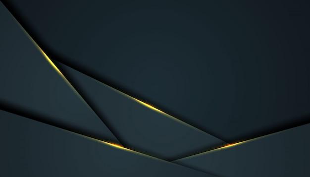 黒のオーバーラップレイヤーと暗い抽象的な背景 Premiumベクター