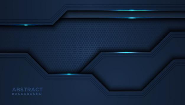 Темный абстрактный фон с наложением слоев Premium векторы