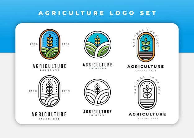 農業のロゴセット Premiumベクター