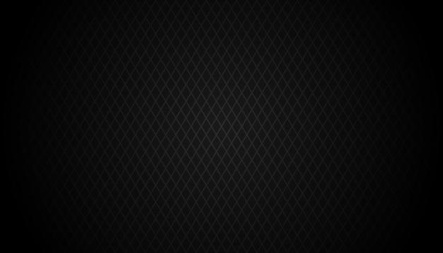 暗い黒の幾何学的なグリッドの背景現代の暗い抽象的なベクトルテクスチャ Premiumベクター