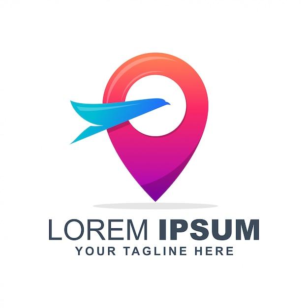 Тур и путешествия красочный логотип Premium векторы
