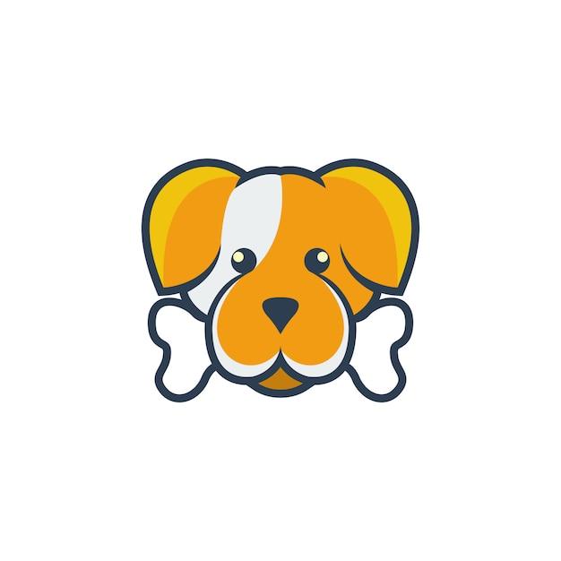 犬漫画のロゴ Premiumベクター