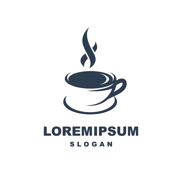 コーヒーカップのロゴ Premiumベクター