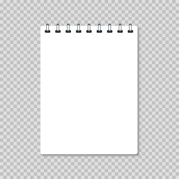 白空白のリアルなノートブック Premiumベクター