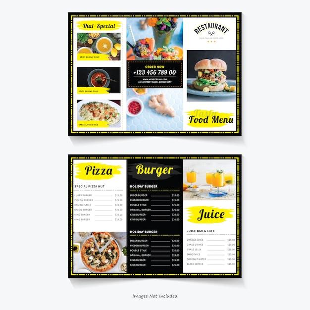 Шаблон брошюры пищевой тройной Premium векторы