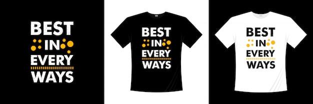 Лучший во всех отношениях дизайн типографии футболки Premium векторы