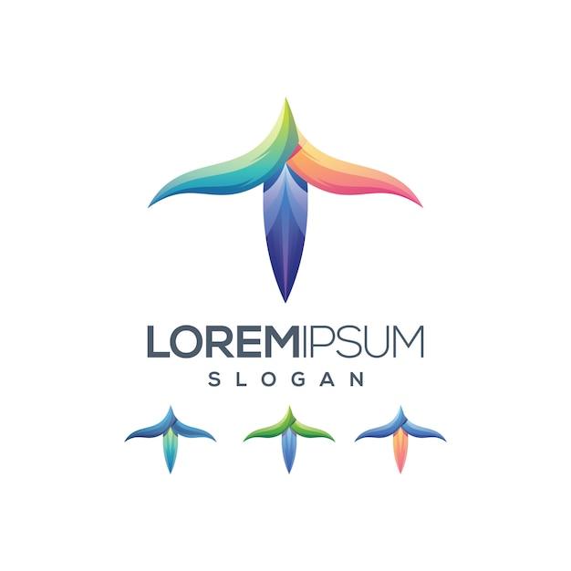 Градиент цвета логотипа Premium векторы