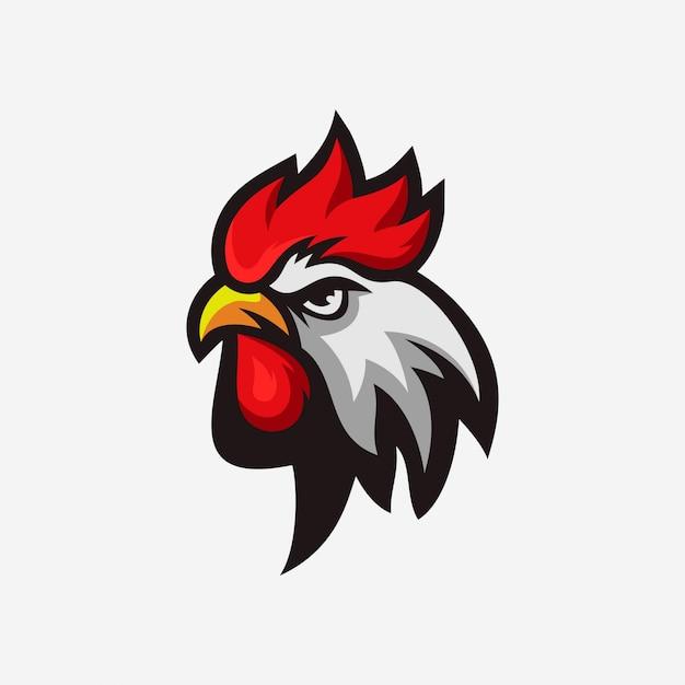 チキンのロゴ Premiumベクター
