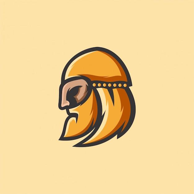 バイキングのロゴ Premiumベクター