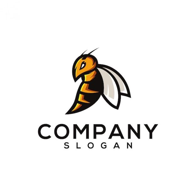 Дизайн логотипа осы Premium векторы