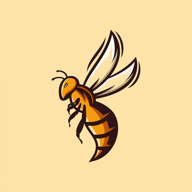 ハチのロゴ Premiumベクター