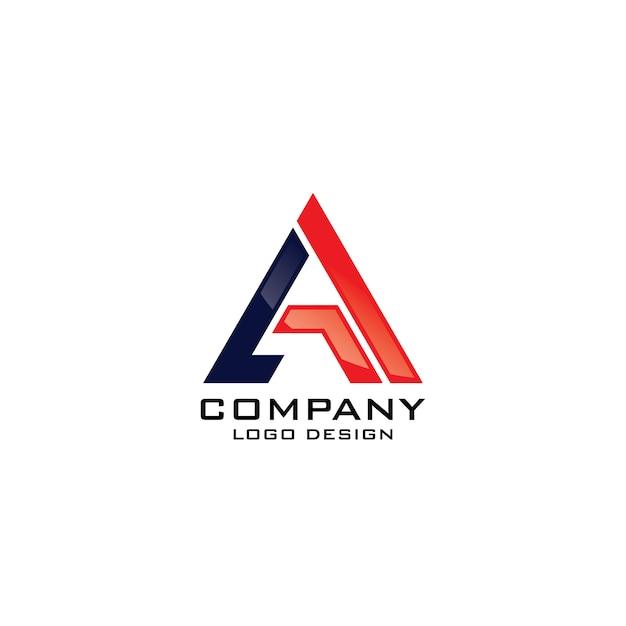 モダンなレターカンパニーのロゴのテンプレートベクトル Premiumベクター