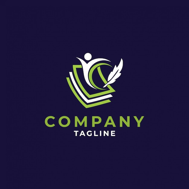 Образование значок логотипа дизайн, векторная иллюстрация Premium векторы