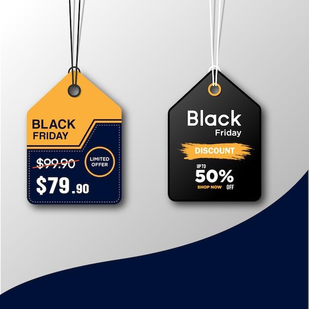 ブラックフライデーセールタグ Premiumベクター