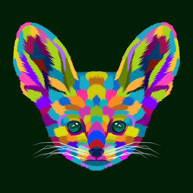 カラフルな犬ポップアートの肖像画のベクトル Premiumベクター