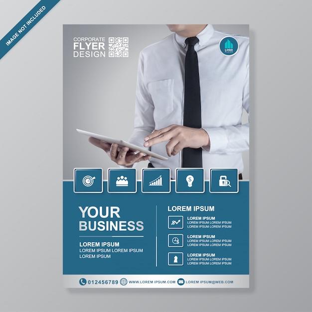 ビジネスカバーa 4チラシデザインテンプレート Premiumベクター
