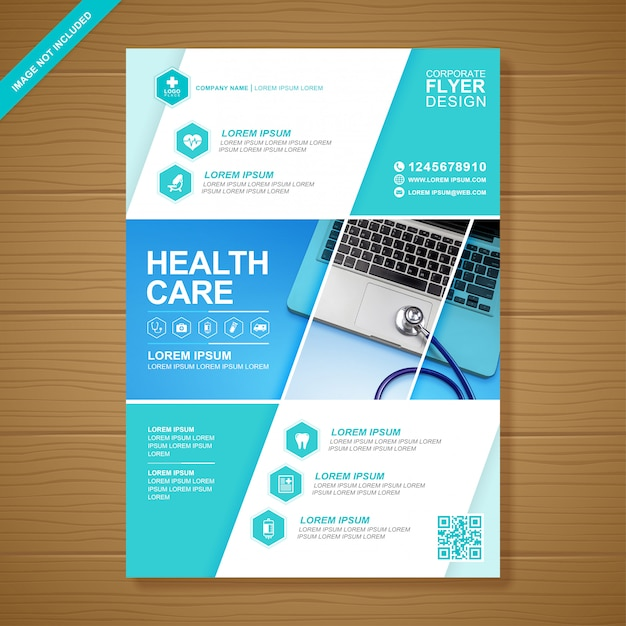 ヘルスケアと医療カバーa 4チラシデザインテンプレート Premiumベクター