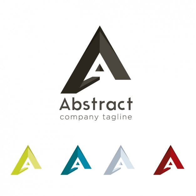 Incroyable A Abstract Logo Design Free Vector