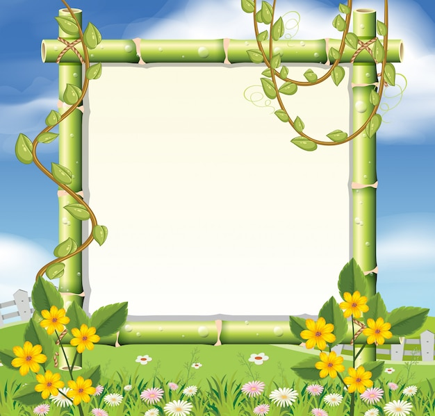 A beautiful nature frame Vector | Premium Download