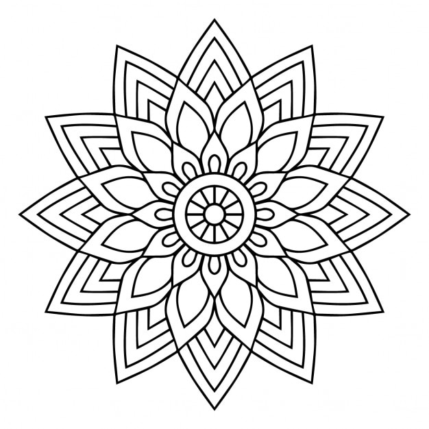 A black and white mandala Vector | Free Download