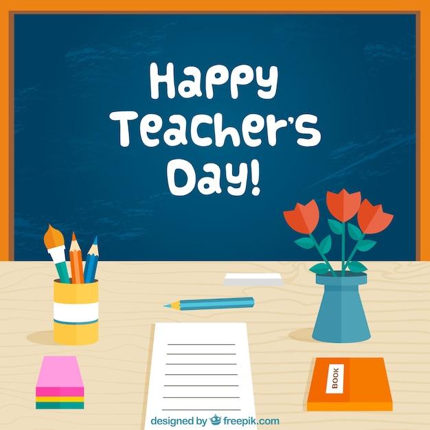 A blackboard, world teachers \' day