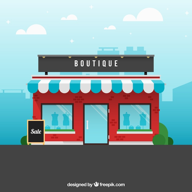 A boutique, exterior view Free Vector