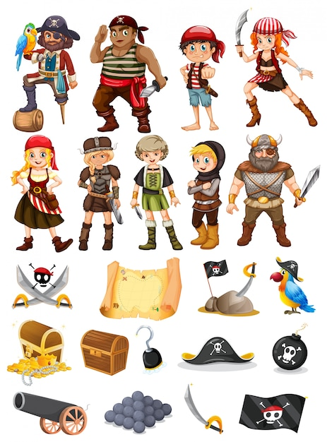 a collection of all things pirate and viking vector free download rh freepik com all vector quantities all vector