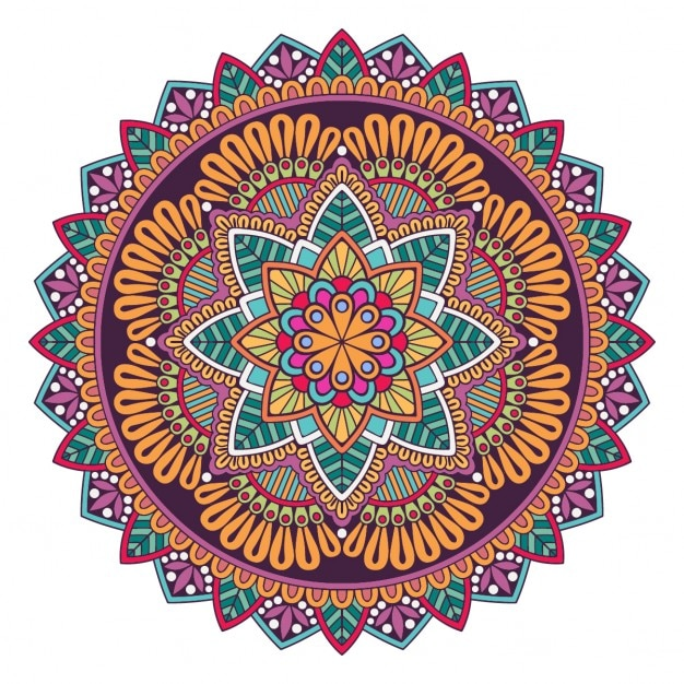 a colorful mandala vector free download