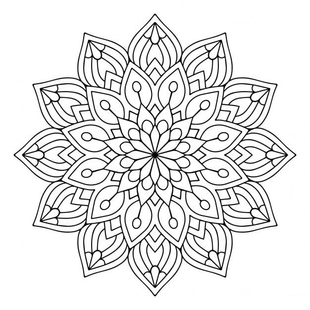 Spiritual Mandala Coloring Pages