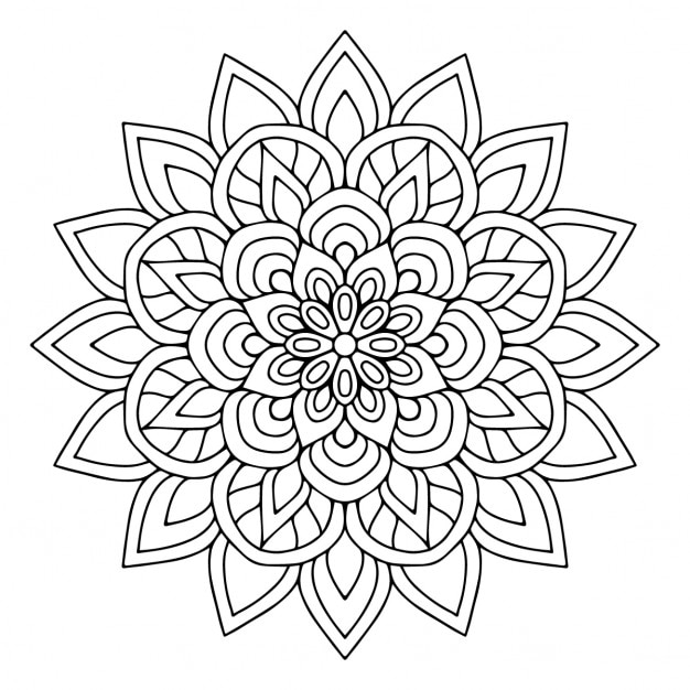 A cute floral mandala Vector | Free Download