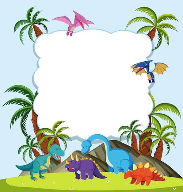 a dinosaur frame concept vector premium download