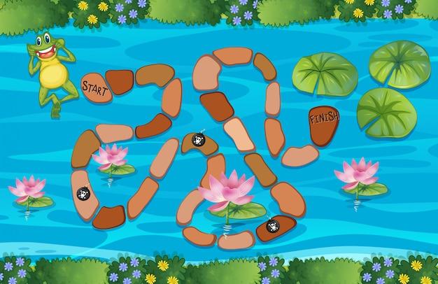 カエルの迷路ゲーム Premiumベクター