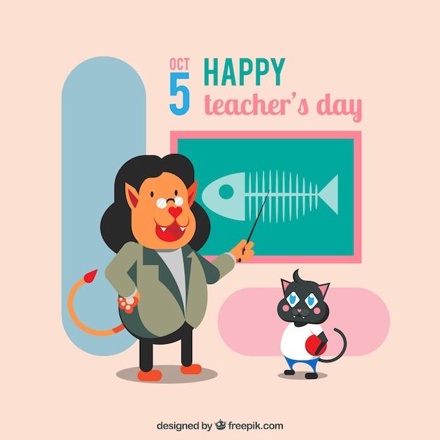 A fun scene for world teachers ' day