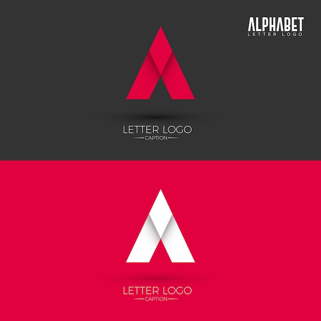 A Letter Origami Style Logo Vector