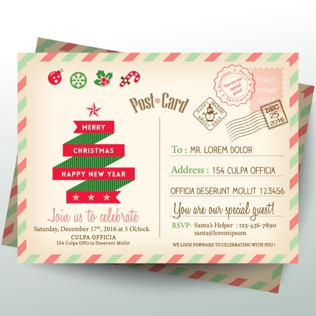 A letter to santa claus Free Vector
