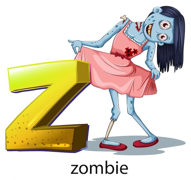 Буква z для зомби Бесплатные векторы