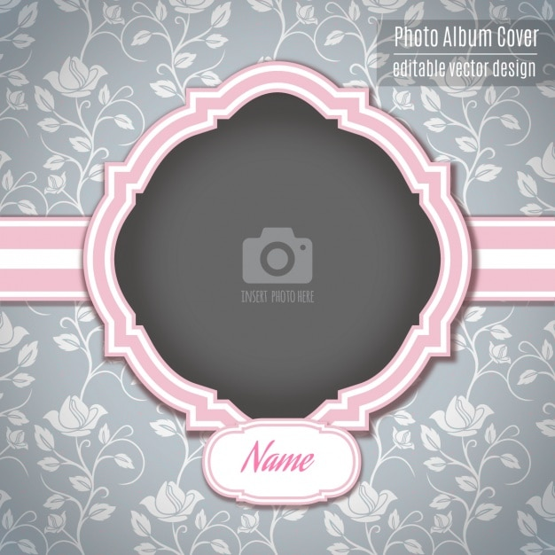 A pink romantic frame Vector   Free Download