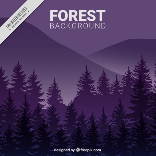 A purple forest background