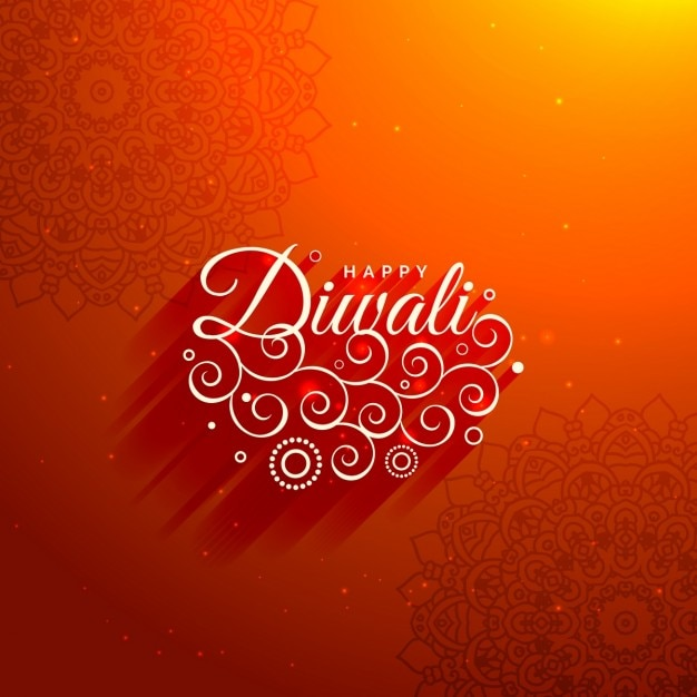 A red background for diwali Free Vector
