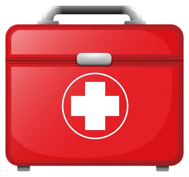 A Red Medical Bag Vector Free Download