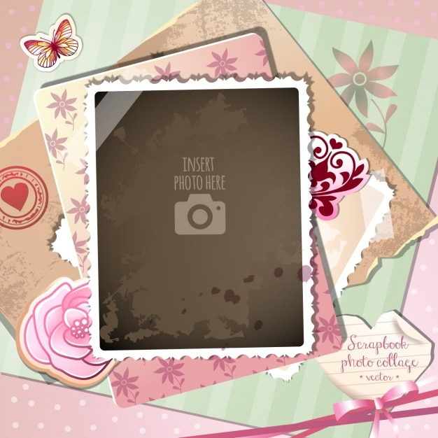 A romantic frame on a vintage background Vector   Free Download