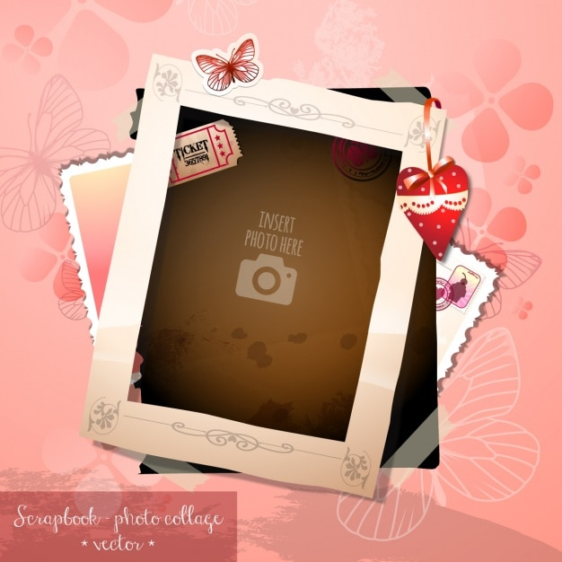 A romantic frame Vector | Free Download