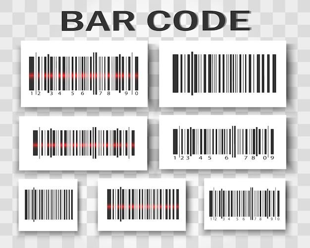 バーコードのセット。バーコード製品。 Premiumベクター