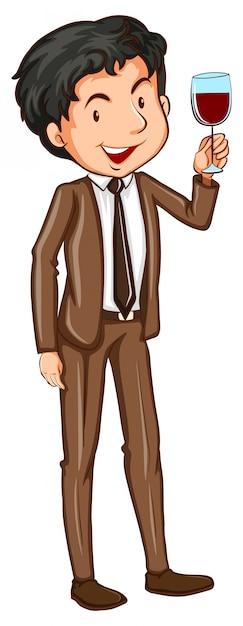 Простой человек в официальной одежде   Бесплатно векторы