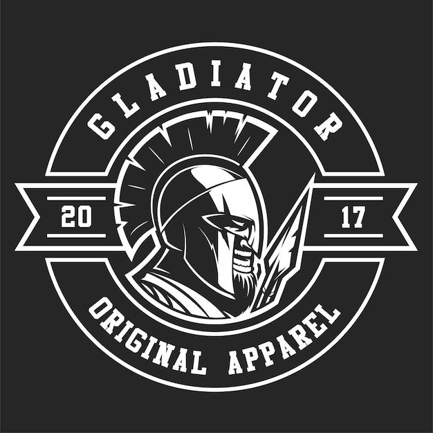 スパルタ戦士のロゴのテンプレート Premiumベクター