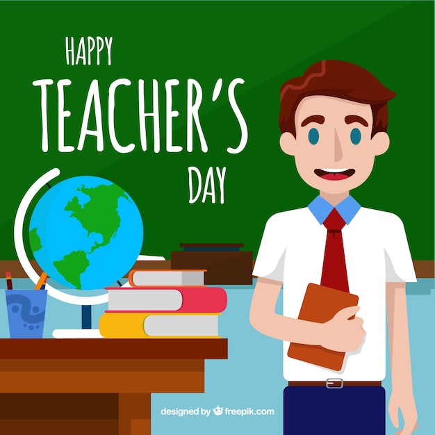 A teacher in class, teacher\'s day
