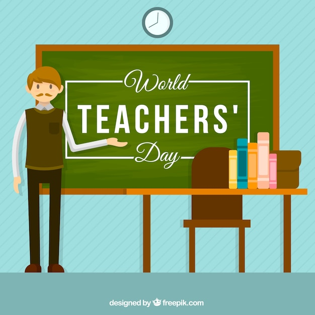 A teacher in class, world teacher\'s day