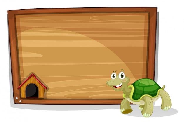 Черепаха перед пустой доской Бесплатные векторы